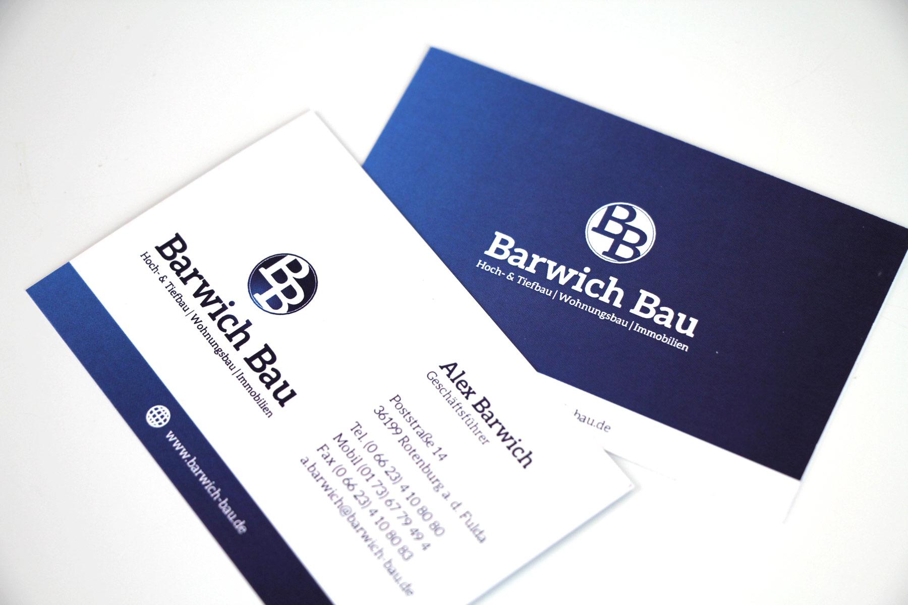 Barwich Bau Visitenkarten B3plus